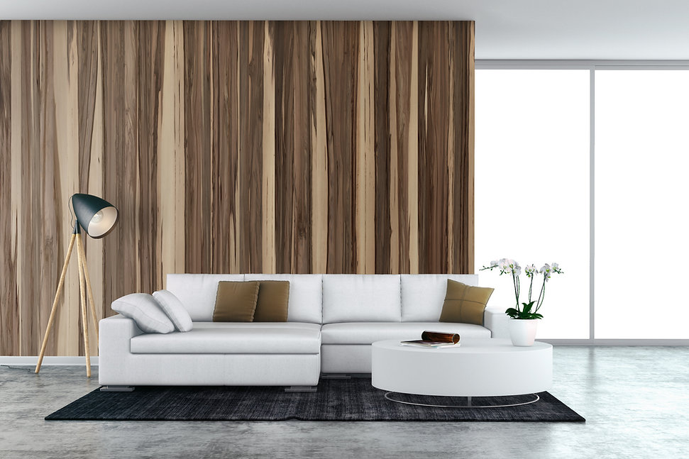 wood veneer wall design