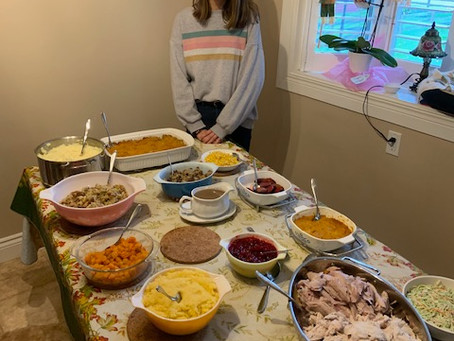Thanksgiving, a great opportunity to meet new members of my host family