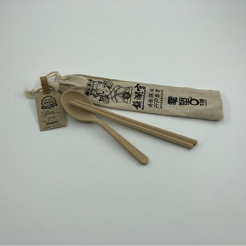 100% Natural Fiber made Chopsticks & Spoon