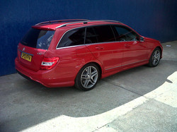 #redcar #mercedes #familycar #estatecar #tintingwindows