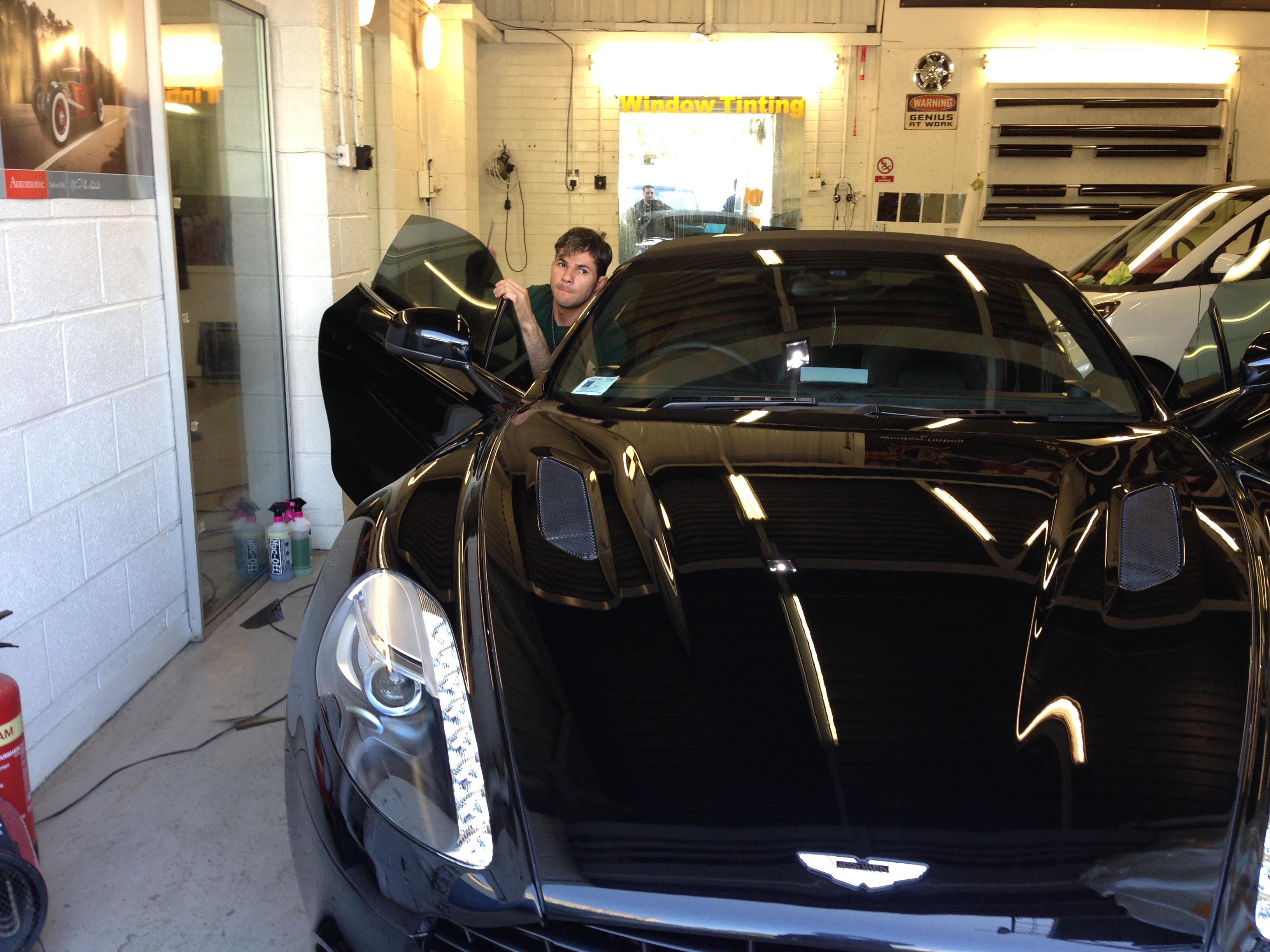 #astonmartin #cabrio #carwindowtinting #fulham #windowtinting