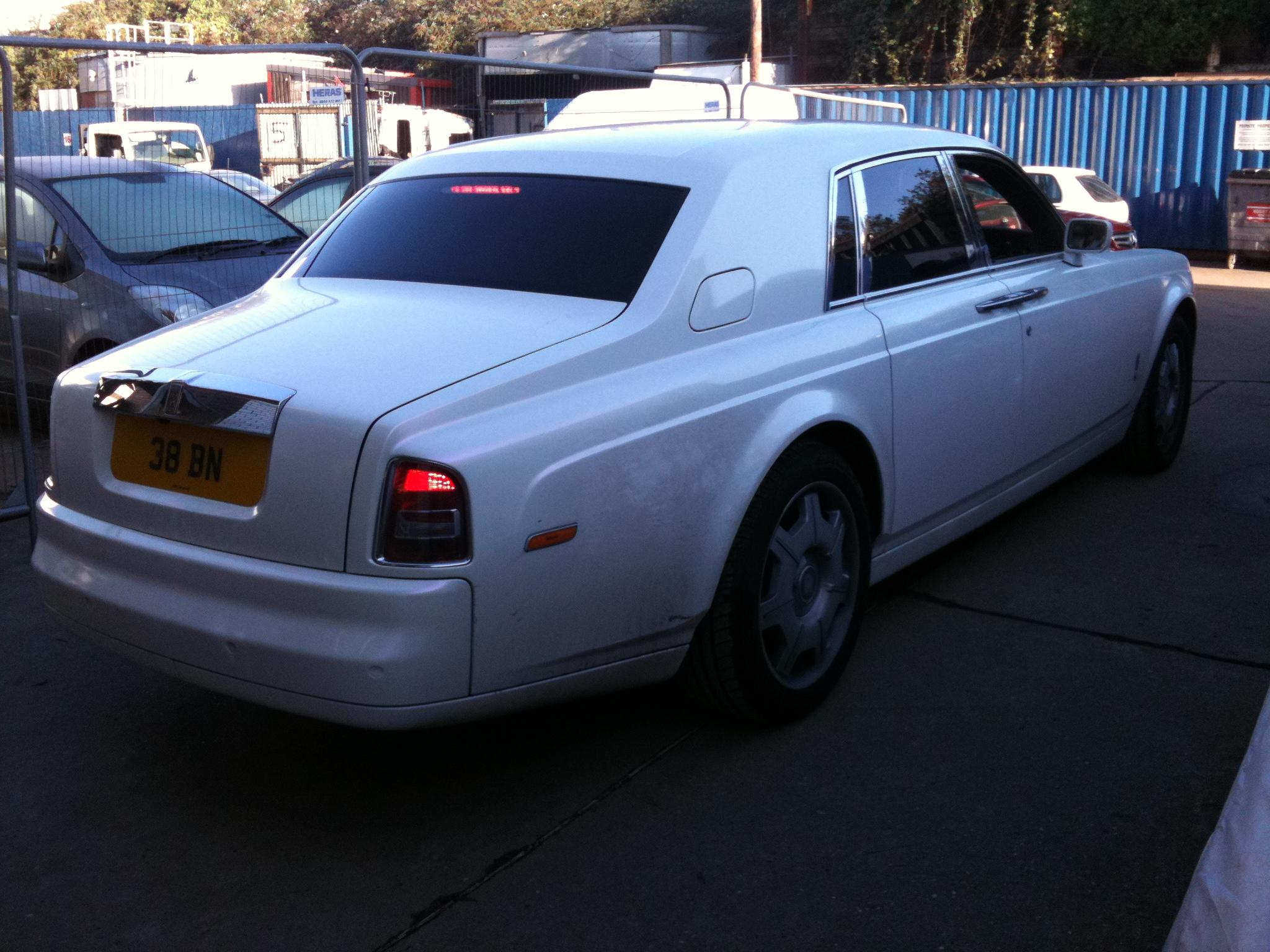 #whitecar #rollsroyce #pco #chauffuer #weddingcar