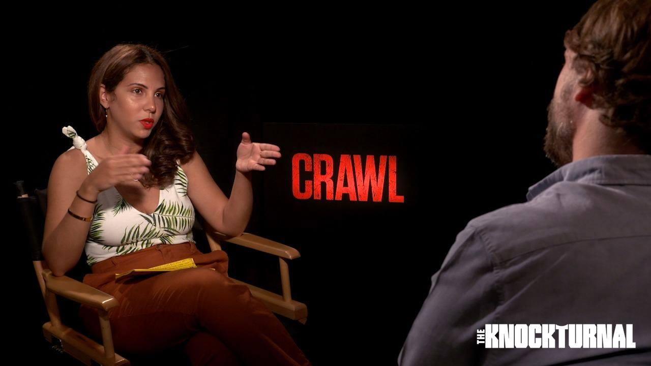 CRAWL Press Junket w  Actress Kaya Scodelario & French Director Alexandre Aja!