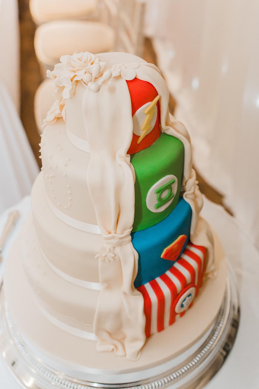 marvel wedding cake