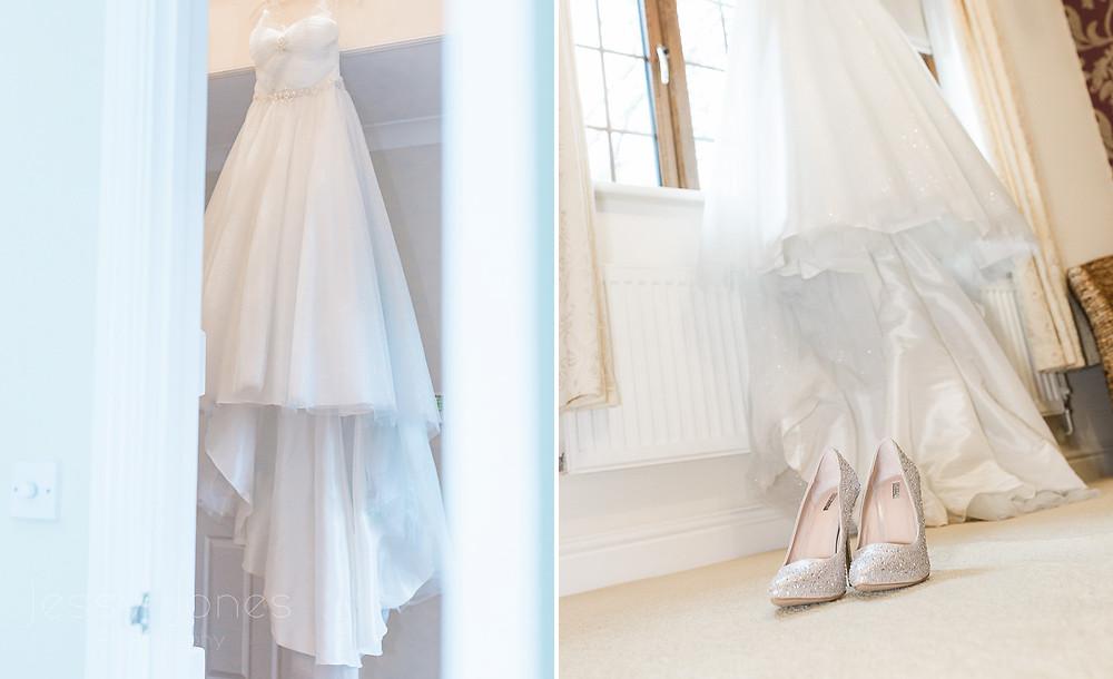 Blue shimmer wedding dress