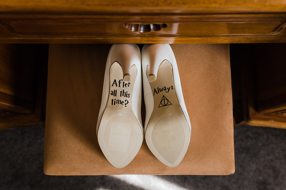snape inspired wedding shoes