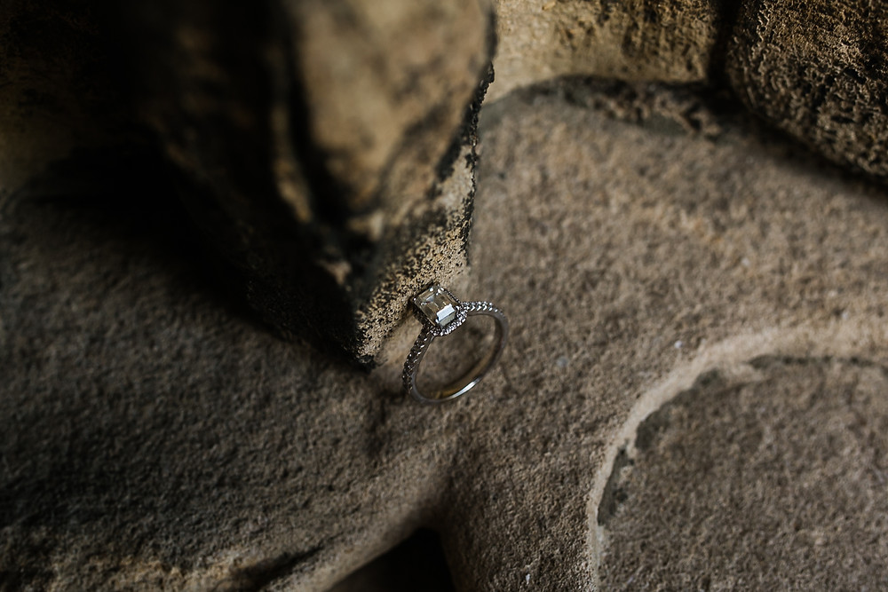 Lincoln engagement shoot engagement ring