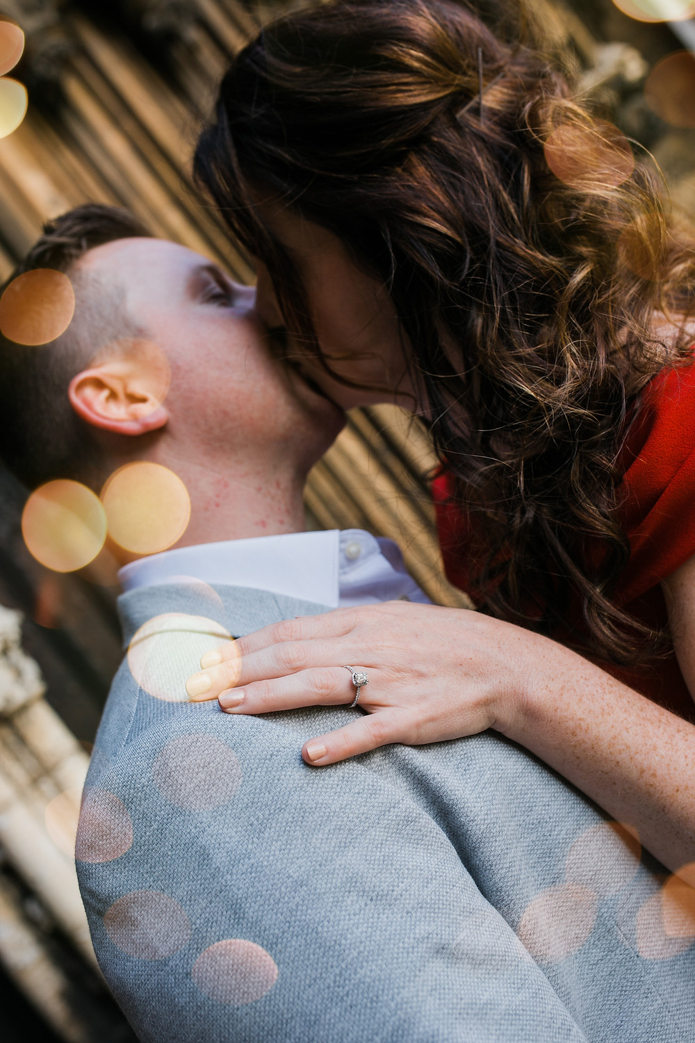 Lincoln Cathedral Engagement Photoshoot kiss with Jessy Jones Photography