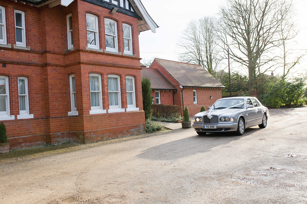 Bentley Wedding Car outside The Dower house