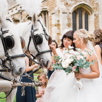 Harlaxton-Manor-Wedding-Horses