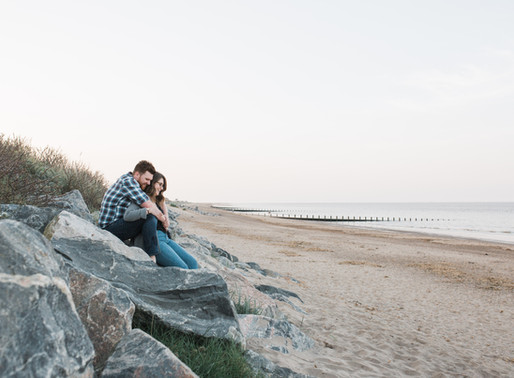Skegness Beach Engagement Photoshoot