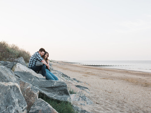 Skegness Beach Engagement Photoshoot