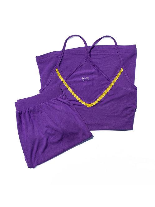 Purple Daffodil Pyjama Set