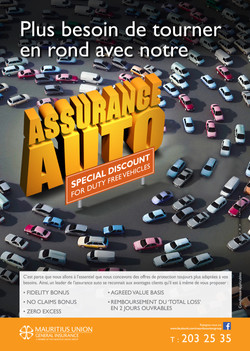 Mauritius Union assurance voiture