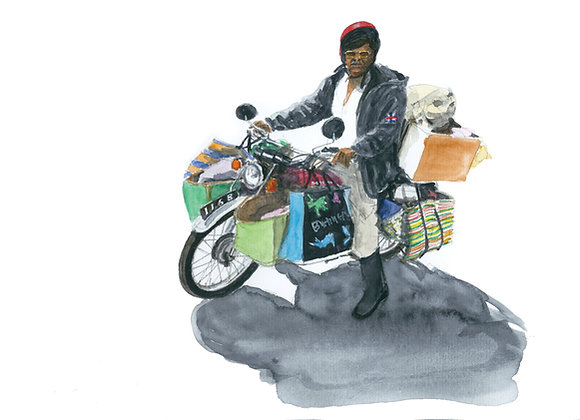 Colporteur a moto
