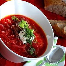 Ukrainian Vegetarian Borscht