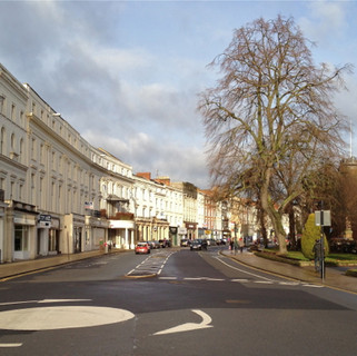 Residential street in Leamington Spa