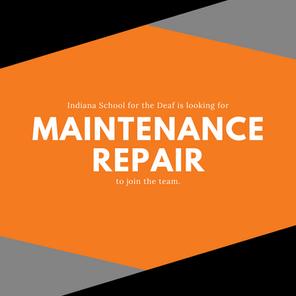 Job Opening - Maintenance Repair