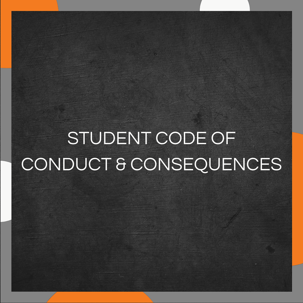 Student Code of Conduct and Consequences