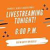Livestreaming TONIGHT!
