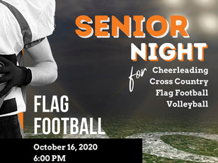 It's Friday Night Lights and Senior Night @ Lowe's Field! - October 16
