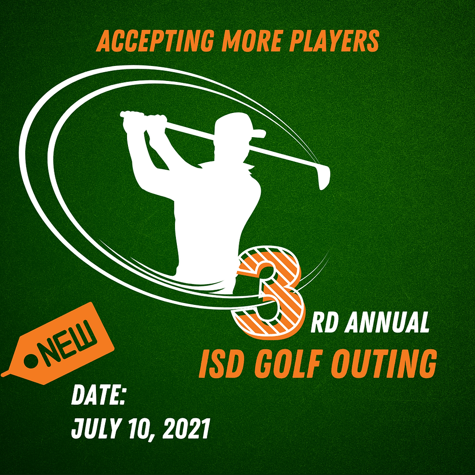 ISD Golf Outing - Rescheduled to July 10, 2021