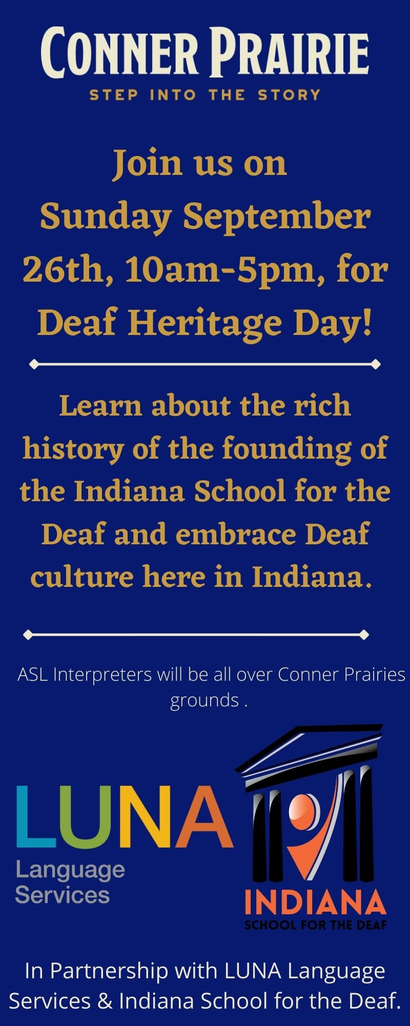 Deaf Heritage Day at Conner Prairie