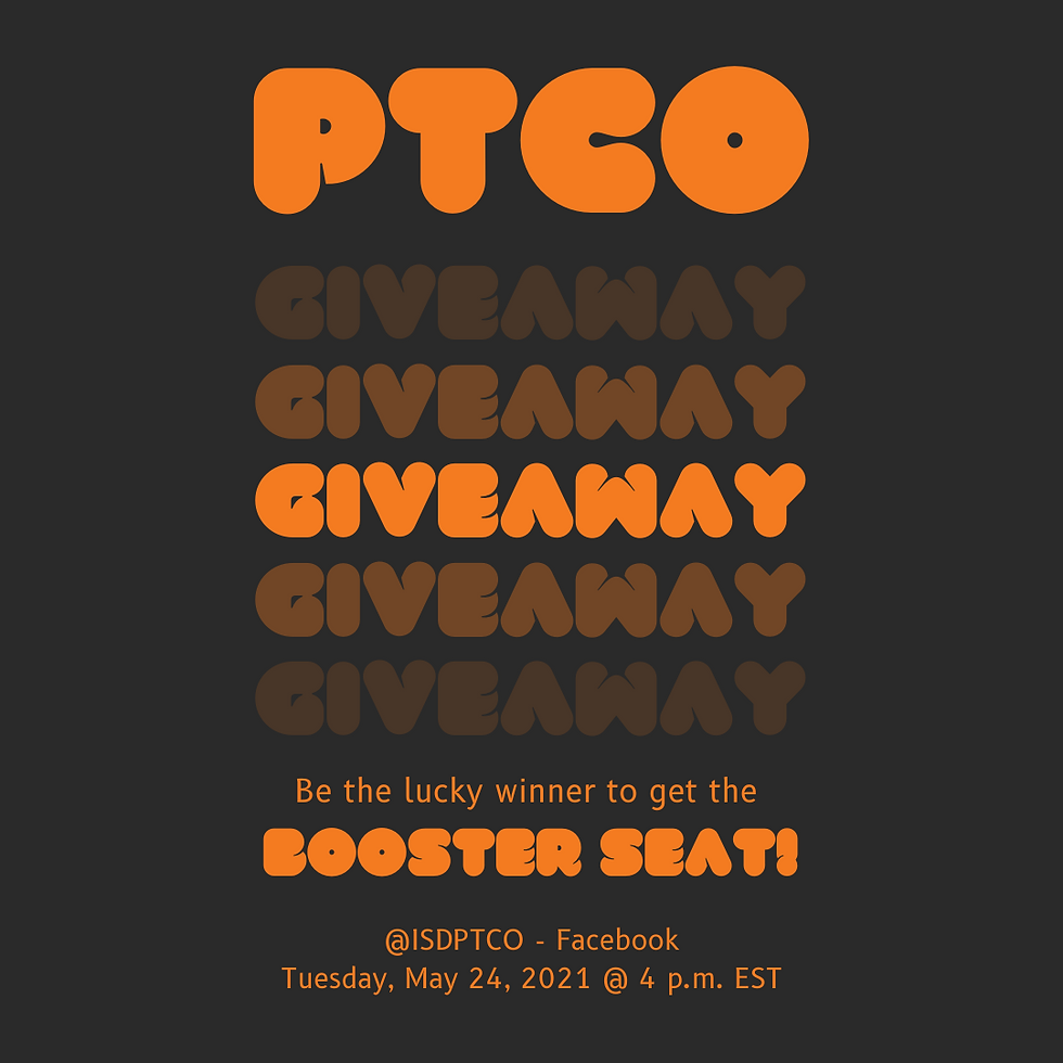 PTCO - Booster Seat Giveaways