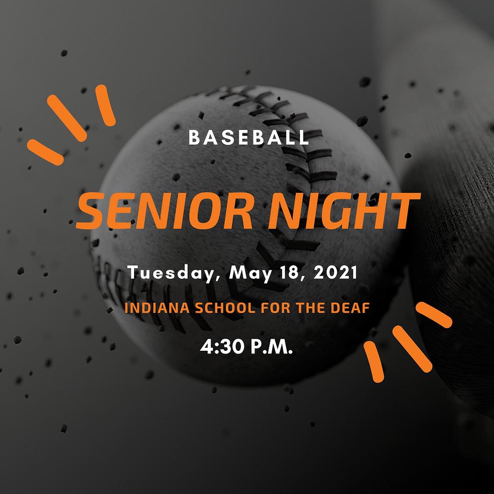 V. Baseball Senior Night!