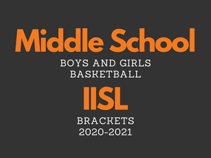 MS Boys and Girls Basketball IISL Brackets