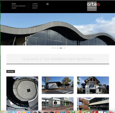 site internet Artea architecture Caen