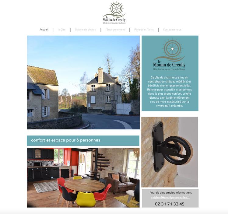 site internet gîte Creully