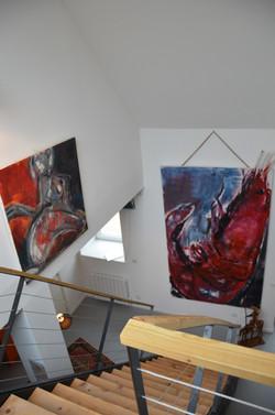vue plongeante sur nos oeuvres d'art