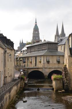 le pont de l'Aure à Bayeux