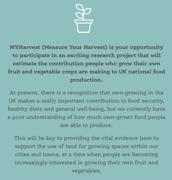 Information about My Harvest