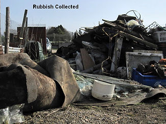 Rubbish collected at Slopefield allotments in 2010.