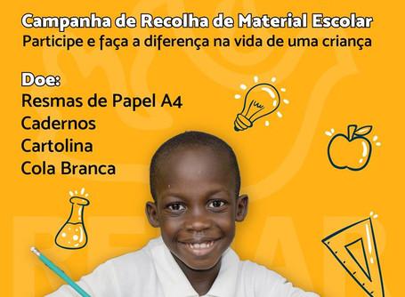 CAMPANHA DE RECOLHA DE MATERIAL ESCOLAR