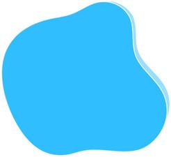 bulle de couleur bleu