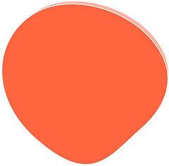 bulle de couleur orange foncé