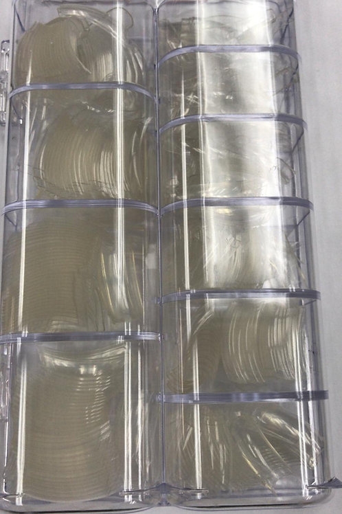 500ct Clear Nail Tips in Tray
