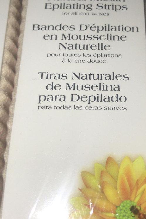 Natural Muslin Epilating Strips ( 100 Strips 1.75 x 4.5in )