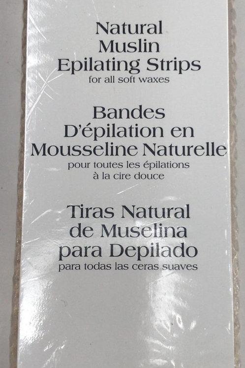 Natural Muslin Epilating Strips