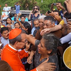 Visita del Cardenal Gregorio Rosa Chávez a Catedral Metropolitana