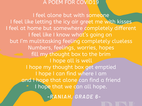 A Poem For COVID19 written by Raniah