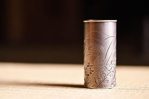"""南鐐茶巾筒""""秋草"""" / Silver Tea Cloth Stand """"Akikusa"""""""