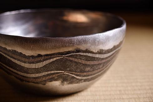 """鍛黒味銅象嵌鉢""""山と雲"""" / Kuromido Bowl """"Yama to Kumo"""""""