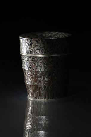 木目金打出茶器 / Mokume-gane Tea Caddy