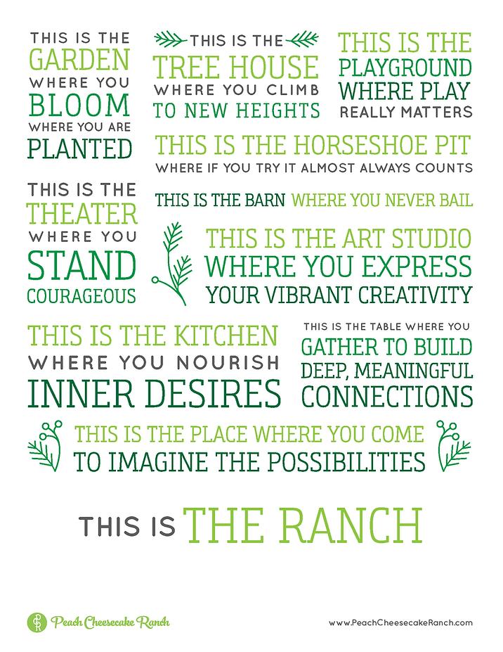 Peach Cheesecake Ranch Manifesto