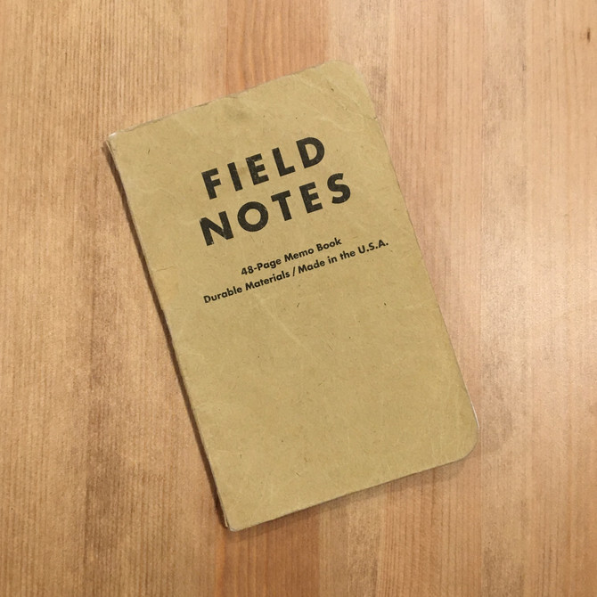 It really did start with a little Field Notes book and a Vision Board.