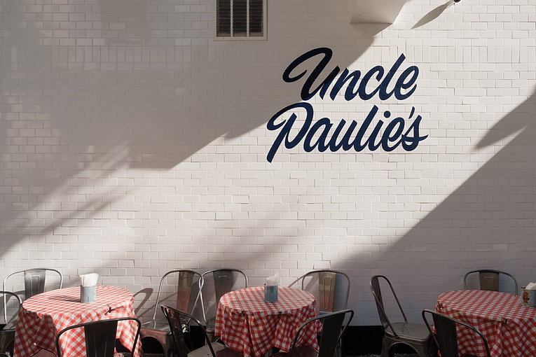 Uncle Paulies outdoor tables